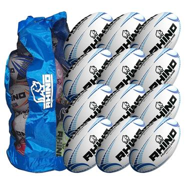 Rhino Hurricane Training Ball 12 Pack with Carry Bag | Size 5