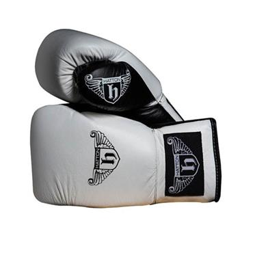 Hatton Pro Sparring Leather Lace-up Gloves | White | 10oz