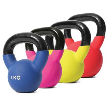 Jordan Blue Neoprene Covered Kettlebell | 4kg