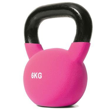 Jordan Pink Neoprene Covered Kettlebell | 6kg
