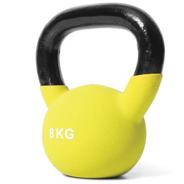 Jordan Yellow Neoprene Covered Kettlebell | 8kg