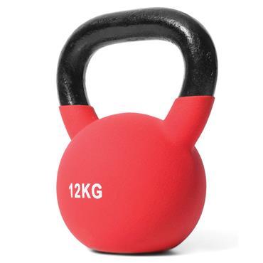 Jordan Red Neoprene Covered Kettlebell | 12kg