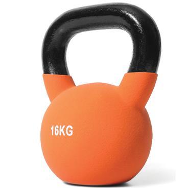 Jordan Orange Neoprene Covered Kettlebell | 16kg