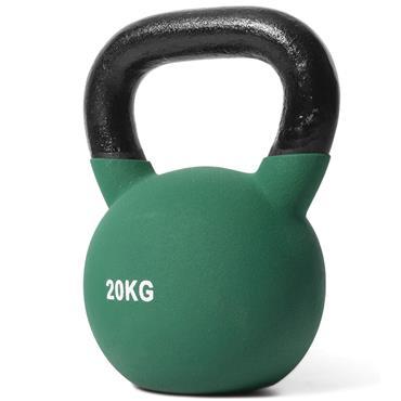 Jordan Green Neoprene Covered Kettlebell | 20kg