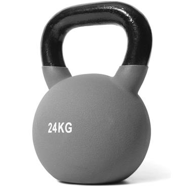 Jordan Grey Neoprene Covered Kettlebell | 24kg