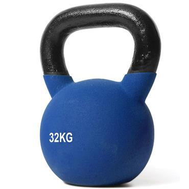 Jordan Blue Neoprene Covered Kettlebell | 32kg