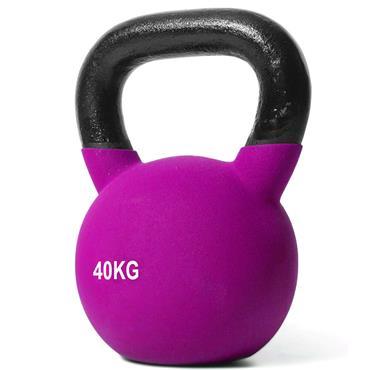 Jordan Purple Neoprene Covered Kettlebell | 40kg