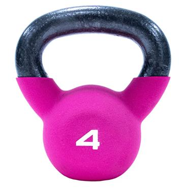 Neoprene Covered Kettlebell 4kg Pink