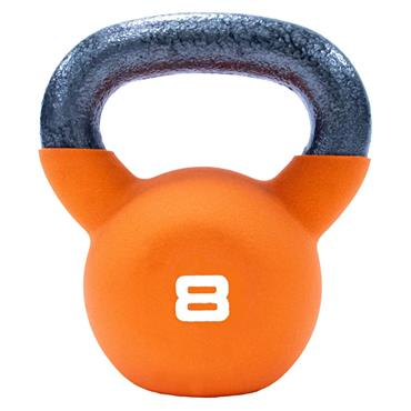 Neoprene Covered Kettlebell 8kg Orange