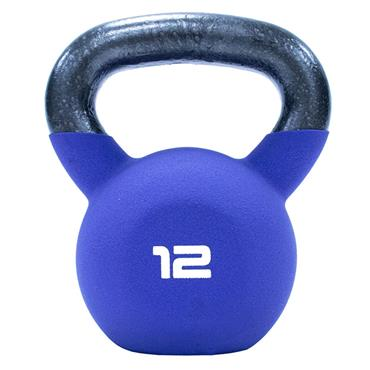 Neoprene Covered Kettlebell 12kg Purple