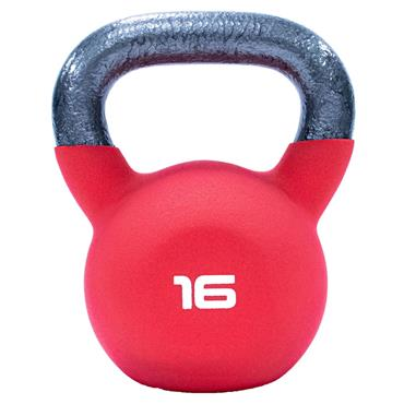 Neoprene Covered Kettlebell 16kg Red