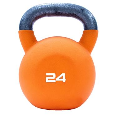 Neoprene Covered Kettlebell 24kg Orange