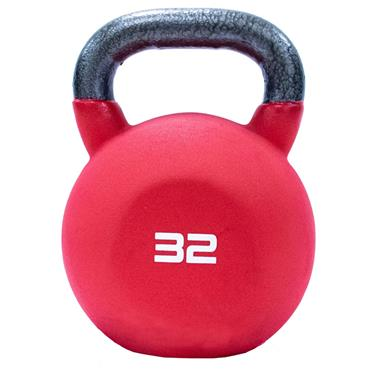 Neoprene Covered Kettlebell 32kg Red
