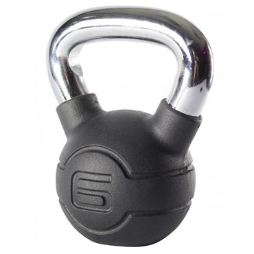 Jordan Fitness Chrome Handle Rubber Kettlebell