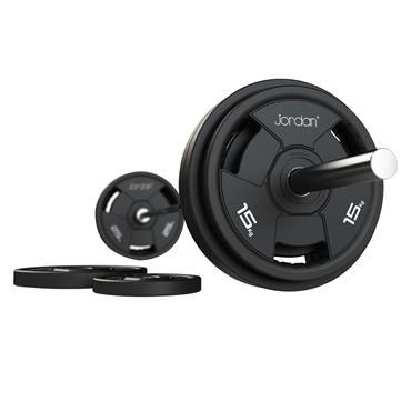 Jordan 200kg Classic Urethane Olympic Disc Set & Weight Tree