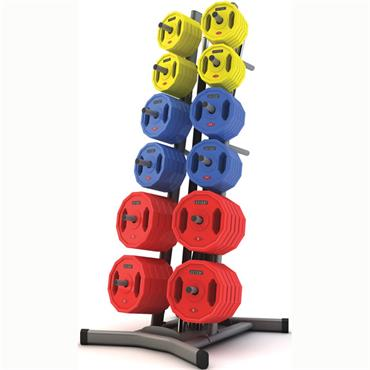 Jordan Studio Barbell Rack - holds 12 sets (silver)