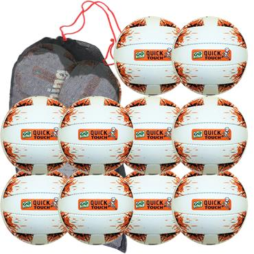 Karakal Quick Touch Football (U8 - U10) | 10 Pack + Bag