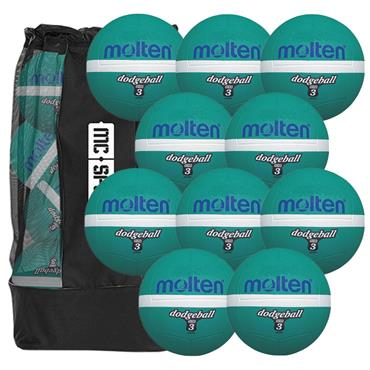 Molten Dodgeball 10 Ball Pack (Includes Free Mesh Carry Bag)