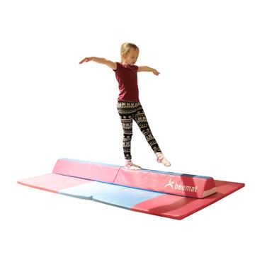 Beemat Foldable Balance Beam & Mat | Pink & Blue (Value Pack)