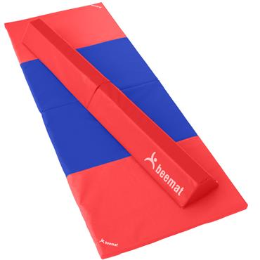Beemat Foldable Balance Beam & Mat | Red & Blue  (Value Pack)