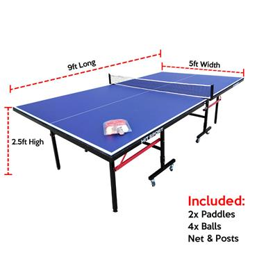 9Ft Indoor Folding Table Tennis Table