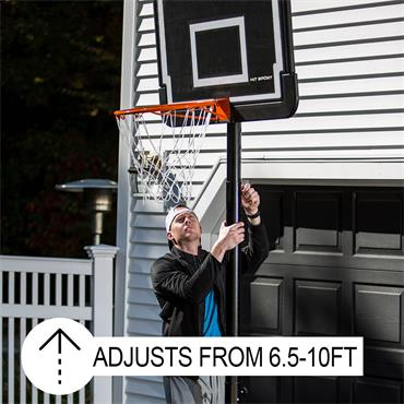 Hit Sport Portable Adjustable Basketball Hoop