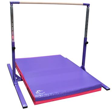 Gymnastics High Bar - Tall - Purple (Bar & Mat Package)