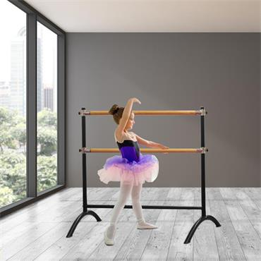 Beemat Freestanding Adjustable 110cm Double Ballet Barre