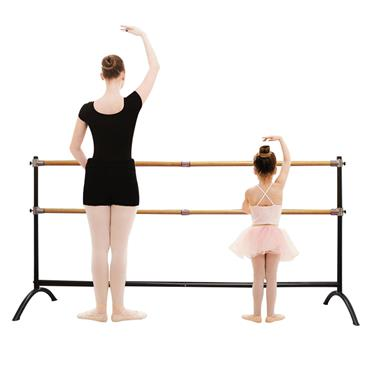 Beemat Freestanding Adjustable 220cm Double Ballet Barre