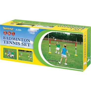 Tuftex Tennis/Badminton Net 2 in 1 Set
