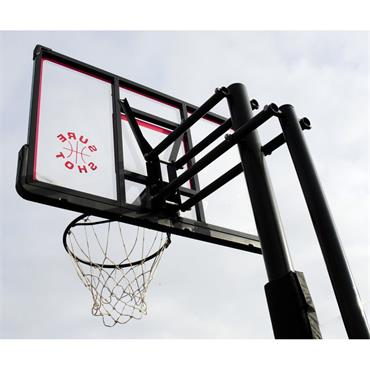 Easijust Portable Adjustable Basketball Unite with Pole Padding and Acrylic Backboard