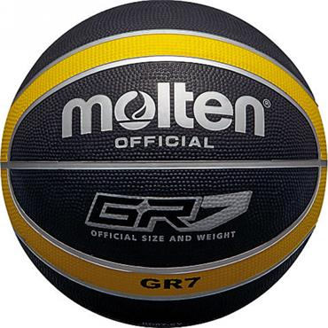Molten Rubber Indoor/Outdoor Basketball (Black/Yellow) | Size 7