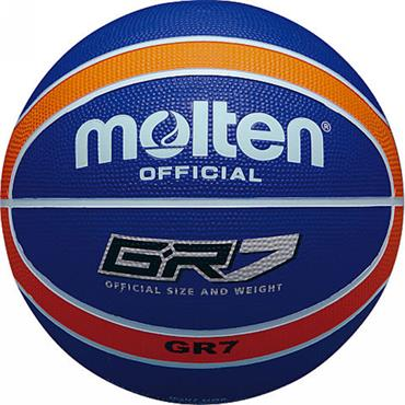 Molten Rubber Indoor/Outdoor Basketball - Blue/Orange