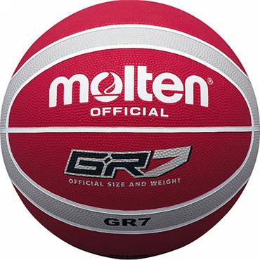 Molten Rubber Indoor/Outdoor Basketball (Red/Silver) | Size 7