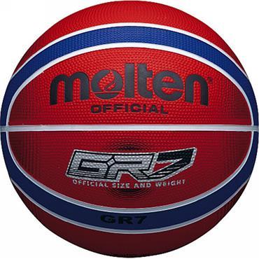MOLTEN BGRX RB RED & BLUE RUBBER BASKETBALL