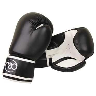 Synthetic Leather Boxing Sparring Gloves | Black/White