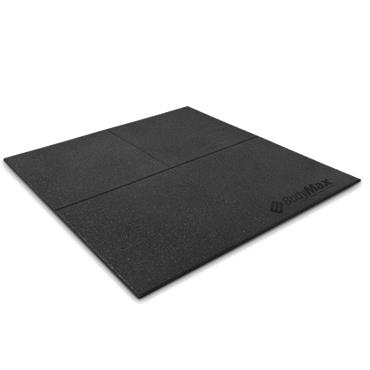 Bodymax Enduramax Black Rubber Gym Floor Tiles 40mm