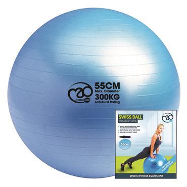 Fitness-Mad 300kg Anti Burst Swiss Ball, Online Workout & Pump