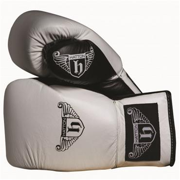 Hatton Pro Sparring Leather Lace Up Glove (pair) White