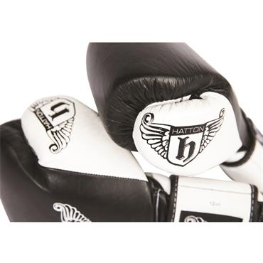 Hatton Pro Sparring Leather Velcro Glove (pair) Black