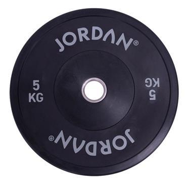 Jordan Fitness Black Rubber Bumper Plate | 5kg-25kg