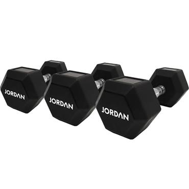 Jordan Hexagonal Urethane Dumbbell Set | 8kg-30kg