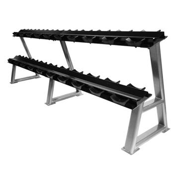 Jordan 2 Tier Dumbell Rack With Saddles