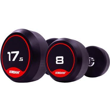 Jordan Fitness Classic Rubber Dumbbells | 1kg-22.5kg