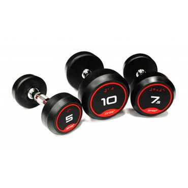 Jordan Rubber Dumbbells With Solid Ends (pairs)