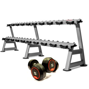 Jordan Rubber Solid End Dumbbell Sets