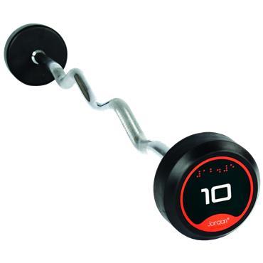 Jordan Rubber Solid End Barbells Curl Bars | 10kg - 30kg
