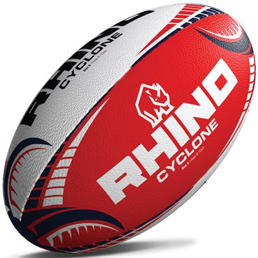 Rhino Cyclone Training Rugby Ball | Red