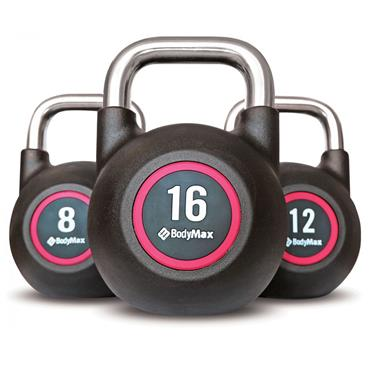 Bodymax Pro V4 Commercial Rubber Coated Chrome Handle Kettlebells