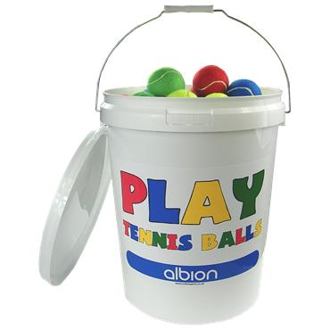 Tuftex Play Team Colours Tennis Ball Bucket (96 Balls)